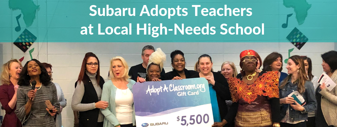 33 Teachers Surprised with Funds for Classroom Supplies