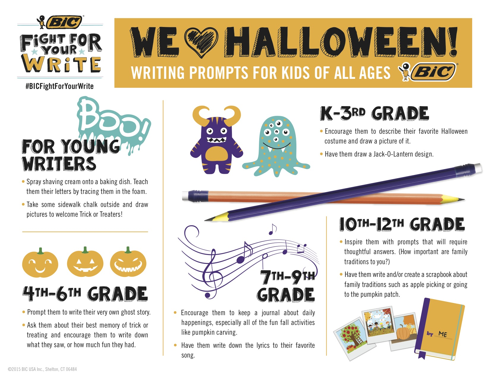 15-434 BIC Halloween Writing Prompts
