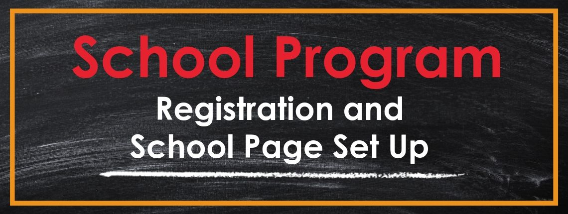 Registration and school page set up