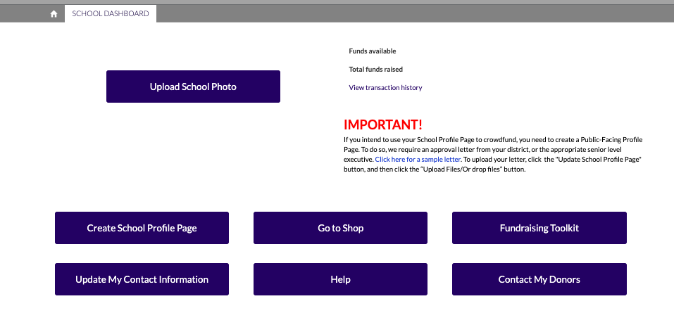 How to Register and Set Up Your School Profile Page