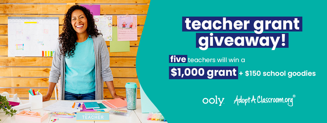 teacher supply grant from OOLY