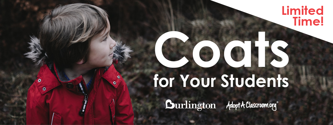 coats for your students from Burlington