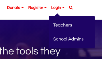 how to find teacher login link in navigation