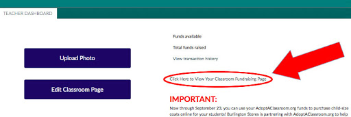 view link to classroom page