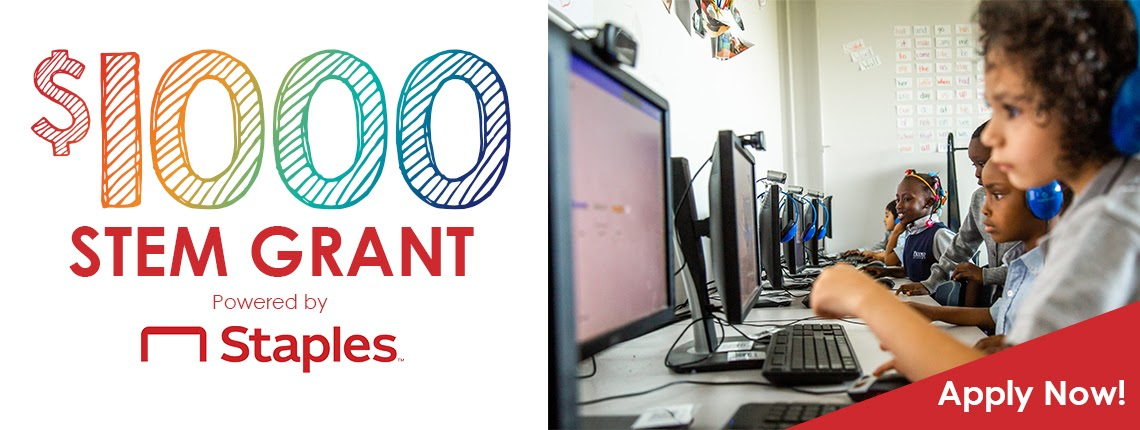 $1,000 Staples STEM Grants