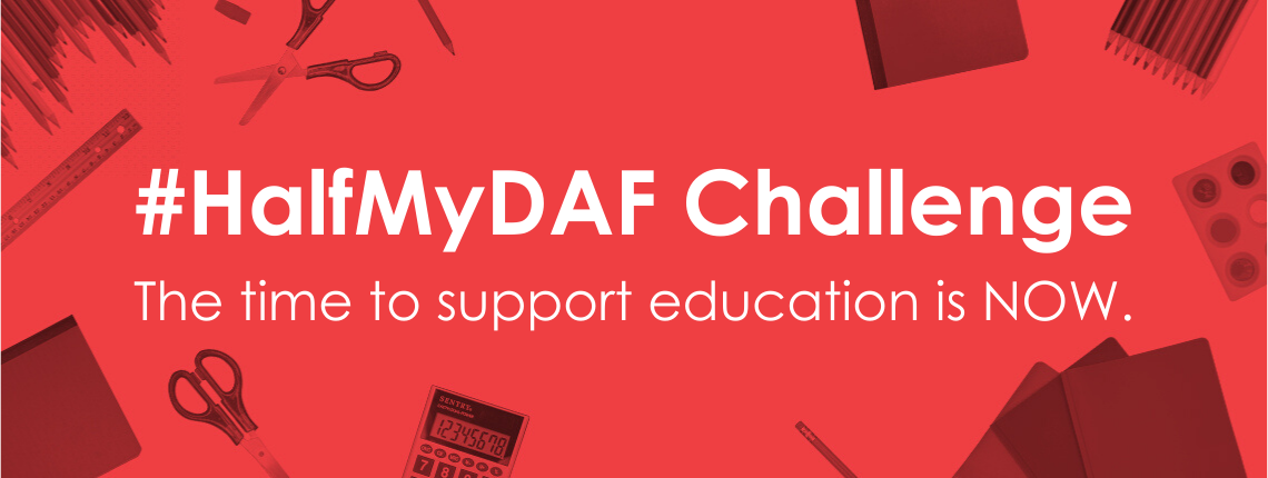 Take the donor-advised fund #HalfMyDaf Challenge.