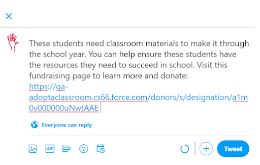 Five Teacher Appreciation Ideas That Don't Cost a Dime: #2: Share links to teachers' fundraising pages