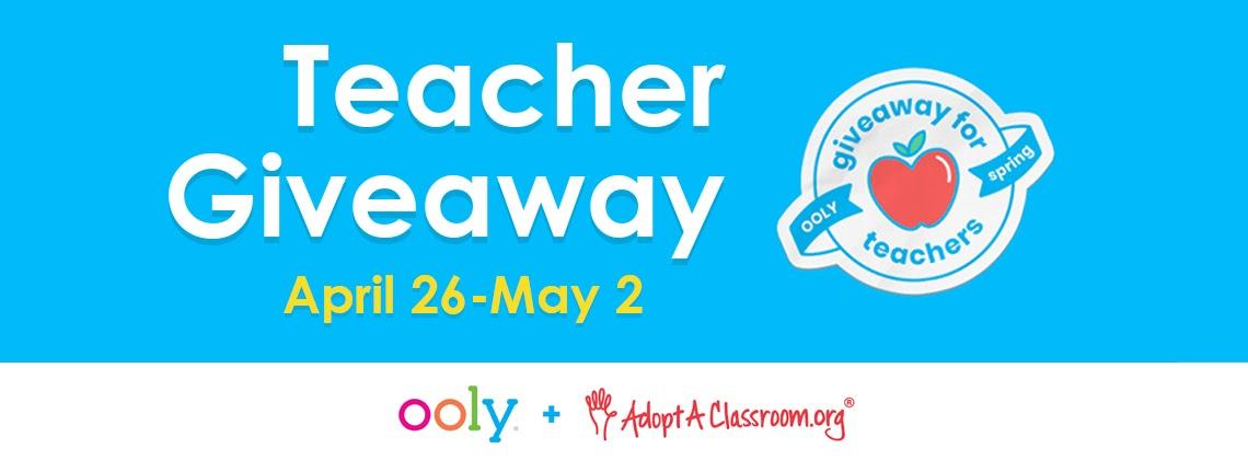 OOLY 2021 Teacher Appreciation Week Giveaway