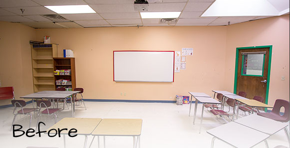 classroom before